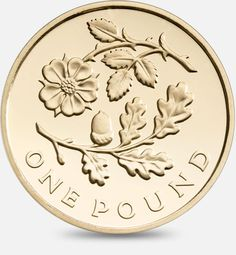 2013 £1 (One Pound) Coin featuring a depiction of the floral emblem of England…