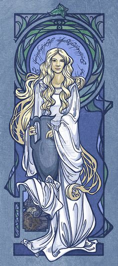 illustrator Karen Hallion, Lady of Light, Nouveau Galadriel.