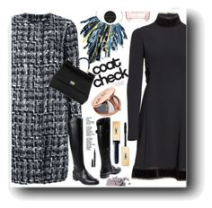 """""""Go Bold: Statement Coats"""" by snezanamilunovic ❤ liked on Polyvore featuring Dolce&Gabbana, Bobbi Brown Cosmetics, Miss Selfridge, Yves Saint Laurent, Versace and statementcoats"""