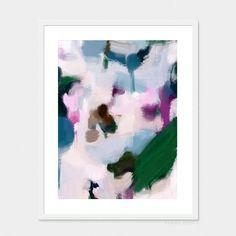 Quinn by Parima Studio // green purple jewel tones abstract art
