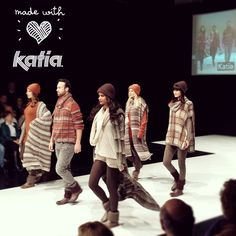 #Katia next #Autumn-Winter #collection on the #catwalk in H+H Cologne   #hhcologne #fashionshow #plaid #knitting