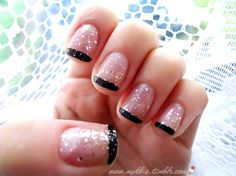 Simple but pretty. I'd do it without sparkles on the tips.