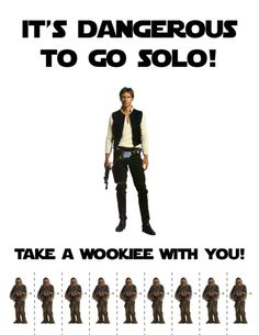 It's Dangerous to go Solo! Take a Wookiee with you!