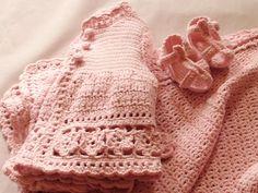 Ravelry: Daisy, daisy pattern by Tina Egleton crochet baby layette [DK]