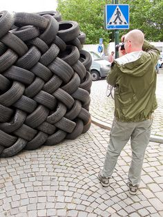 IMG_5964 Justin and the tire wall | Flickr - Photo Sharing!