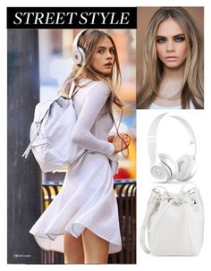 """Cara Delevingne street style"" by sophie01234 ❤ liked on Polyvore featuring DKNY and Mansur Gavriel"