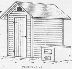 Wood Smoke House Plans -   Build a Smokehouse with these simple free plans, or use them as Tool Shed Plans. Free plans on how to make a smoker. [free account required for plan downloads]