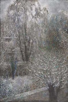 'Back Gardens in Winter' by Richard Cartwright (pastel)