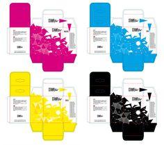 Ink cartridges #custom #hanging box - #packaging #diecut template