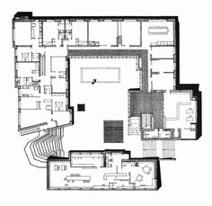 Floor Plan : Säynätsalo Town Hall, Finland (1952) | Alvar Aalto