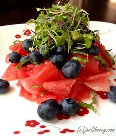 Shaved Watermelon Salad (raw-vegan)