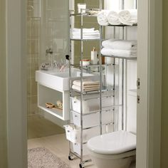 good solution for small bathroom.