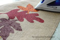 Appliqued Burlap Table Runner