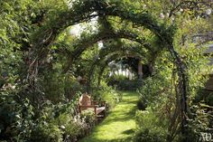 Pergola's hebben iets sprookjesachtigs, door de sierlijke boogvorm en weelderige begroeiing. Twintig foto's van de mooiste pergola's in tuinen.