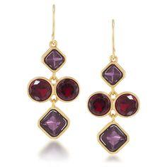 Berry Chic Mini Pierced Chandelier Earrings. #carolee #earrings #bcrf