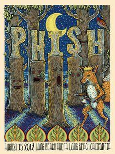Phish, 15 agosto 2012, Long Beach (California). Artist: Michael Michael Motorcycle