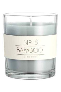 Ароматическая свеча в стекле - Светло-зеленый/бамбук - HOME | H&M RU