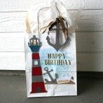 on-the-coast-gift-bag-SQR Gift Bags, Bottle Opener, Happy Birthday, Projects, Crafts, Diy, Happy Brithday, Log Projects, Manualidades