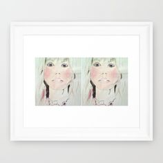 Faces+Framed+Art+Print+by+Reni+Candelier+-+$30.00