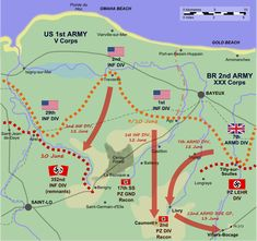 During the night of 9/10 June the German 352nd Infantry Division retired towards Saint-Lô, creating a wide gap in the German lines covered only by light forces. On 12 June the British 7th Armoured Division passed through the gap heading for Villers-Bocage and the ridge beyond, while the US 1st and 2nd Infantry Divisions launched their own attacks in support.