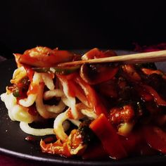 How to make Sweet Sour Deep-Fried Udon Noodles                                                                                                                                                                                 More