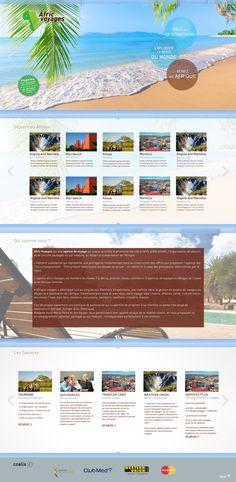 Réalisation du zoning et de la charte graphique du site Afric Voyages.