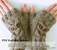 PDF KNITTING PATTERN // Owl Cable Knit par naturegirlknits sur Etsy, $5,50