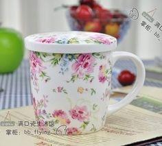 Tasse fleurie aliexpress