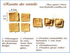 Raviolis feutrine