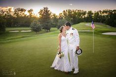Photo Credit: Chris Carter Photography #GolfCourse #WeddingBliss #MilitaryWedding