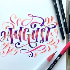 Happy first Friday of August!! What are you most excited about this month? Let us know in the comments! #tombow #tombowusa #regram : @lshannondesigns