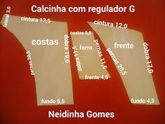 Neidinha Gomes Costuras em geral : Calcinha com regulador G Stocking Pattern, Leila, Sewing Patterns, Swimsuits, Cards Against Humanity, Bra, How To Make, Crochet Doilies, Barbie