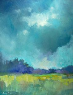 landscape paintings - paintings by erin fitzhugh gregory- inspiration for a weaving