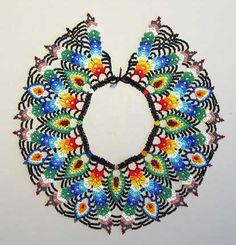 Louise Hill Designs - Saraguro Ecuadorian beadwork. Look at these gorgeous colors!