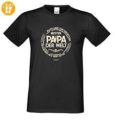 Alles Liebe zum Geburtstag ::: Bester Papa der Welt ::: Schönes T-Shirt für Herren als Geburtstagsgeschenk Farbe: schwarz Gr: 5XL (*Partner-Link)
