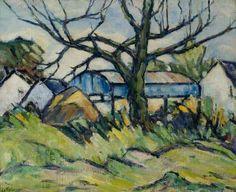 Taylor, Ernest, (1874-1951), Blue Barn, Oil