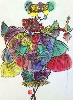 Colleen Quen | Watercolor |Fashion