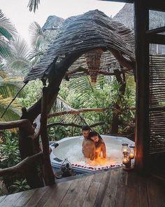 Top 30 Honeymoon Photo Ideas For Unforgettable Memories ❤ #weddingforward #wedding #bride #honeymoonphotoideas Beautiful Islands, Beautiful Places, Tulum Hotels, Lake Pictures, Destination Voyage, Tulum Mexico, Destinations, Travel Couple, Luxury Travel