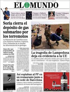 Los Titulares y Portadas de Noticias Destacadas Españolas del 4 de Octubre de 2013 del Diario El Mundo ¿Que le pareció esta Portada de este Diario Español?