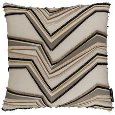 Merengue Zig Natural Square Cushion