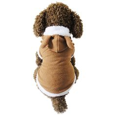 Paixpays Pet Dog Cat Puppy Sweater Hoodie Coat For Small Pet Dog Warm Costume * Click image for more details. (This is an affiliate link) Winter Hoodies, Pet Costumes, Christmas Cats, Pet Clothes, Sweater Hoodie, Winter Hats, Rompers, Cosplay, Pets