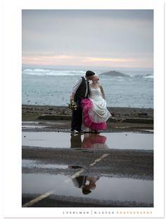 © J.Perlman R.Lutge Photography. Albion River Inn wedding in January.