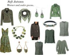 Soft Autumn. Warmer and cooler greens.