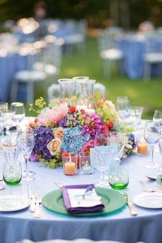 Flowers. Rehearsal dinner.  Wedding inspiration.  Tuscany.  Designed by Brenda Babcock.   http://www.italyweddingplanner.com