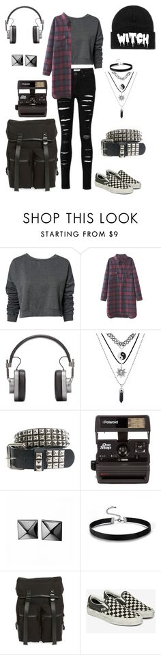 """""""Summer Camp (day 8)"""" by causingpanicatthetheater ❤ liked on Polyvore featuring ONLY, WithChic, Master & Dynamic, Polaroid, Waterford, Topman and Vans"""