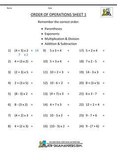 pemdas rule order of operations 1 Pemdas Worksheets, 8th Grade Math Worksheets, Free Printable Math Worksheets, 9th Grade Math, Math Pages, Math Sheets, Order Of Operations, Math Notebooks, Homeschool Math