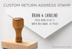 Your place to buy and sell all things handmade Custom Return Address Stamp, Artisan & Artist, Custom Rubber Stamps, Wood Stamp, Response Cards, Art Logo, Art Market, Custom Logos, Place Card Holders