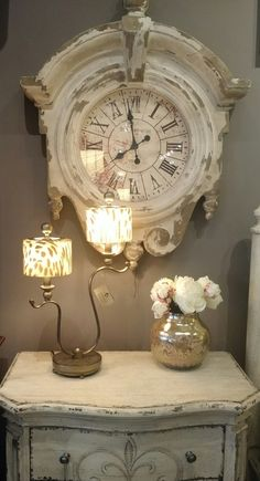 Clock Mixed Media Collage Farmers Daughter Mantel Home Decor