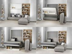 Italian Space Saving Furniture | Bed table, Small apartments and ...