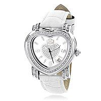 Luxurman Ladies Diamond Heart Watch 0.30ct White